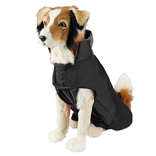 SelfLove Hundemantel aus 100% Wasserdicht Nylon Fleece Futter Jacke Reflektierende Hundejacke Warm...