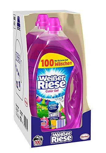 Weißer Riese Color Gel (200 (2 x 100) Waschladungen), Colorwaschmittel extra stark gegen Flecken,...