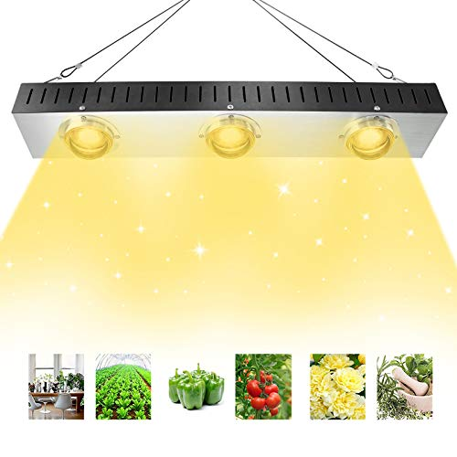 Niello COB LED Grow Light, 600w Sunlike Vollspektrum LED Pflanzenlampe mit Reflective Cup, High PAR...
