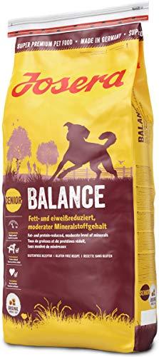 JOSERA Balance (1 x 15 kg) | fett- und eiweißreduziertes Hundefutter für Senioren | glutenfrei |...