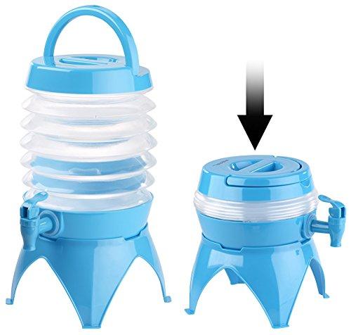 PEARL Wasserspender Kanister: Faltbares Fässchen, Auslaufhahn, Ständer, 3,5 Liter,...