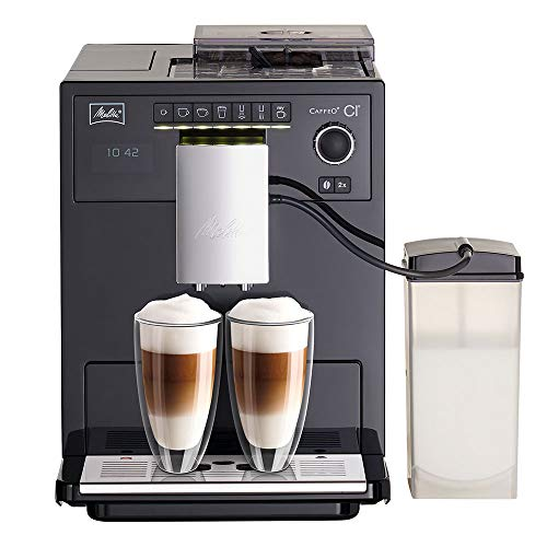 Melitta Caffeo CI E970-103, Kaffeevollautomat mit Milchbehälter, Zweikammern-Bohnenbehälter, One...