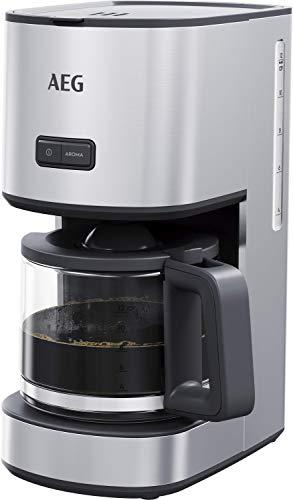 AEG CM4-1-4ST Kaffeemaschine / 1,5 l Glaskanne / 12 Tassen / Warmhaltefunktion / Geschmack, Aroma...
