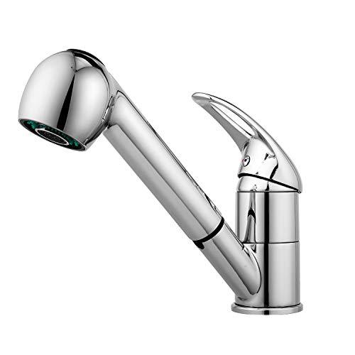 Küchenarmatur ausziehbar Wasserhahn Bad Mischbatterie Spültischarmatur mit Brause Edelstahl, für...