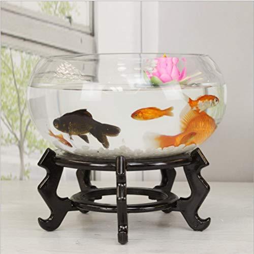SanQing Aquarium runde Glas Aquarium transparent Mini schildkröte Tank goldfischglas Wohnzimmer...