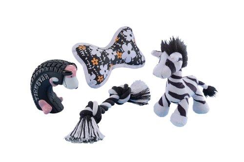 Nobby Starter Set schwarz / weiß 4-teilig