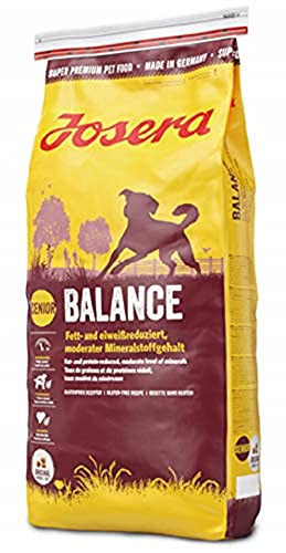 JOSERA Balance (1 x 15 kg)   fett- und eiweißreduziertes Hundefutter für Senioren   glutenfrei  ...