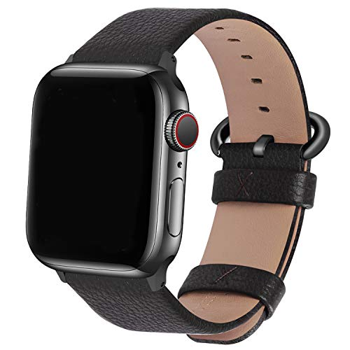 Fullmosa kompatibel mit Apple Watch Armband 44mm 42mm 40mm 38mm Series SE/6/5/4/3/2/1, Leder...