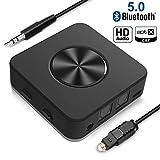 Yuanguo Bluetooth Adapter Audio Bluetooth Empfänger und Transmitter für Auto und Zuhause,...