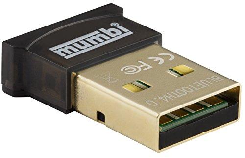 mumbi Nano USB Bluetooth Dongle 4.0 für Windows 10 / 8 / 7 / Vista / XP , Plug & Play, Reichweite...