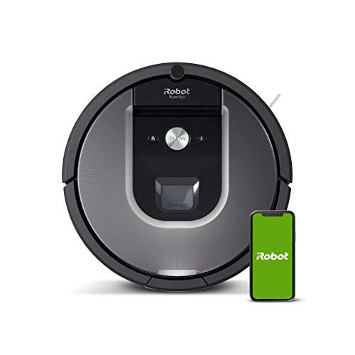 iRobot Roomba 960 der Volks-Saugroboter mit starker Saugkraft, 2 Multibodenbürsten, Navigation für...