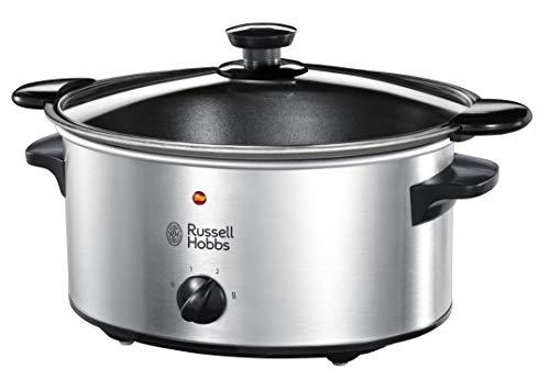 Russell Hobbs Slow Cooker, Schongarer, 3 Temperatureinstellungen, 3.5l, 160 Watt, Cook@Home...
