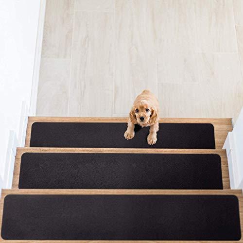 HOUSE DAY Rutschfeste Teppich-Treppenstufen,14er-Set, rutschfester Teppichläufer für Griffigkeit...