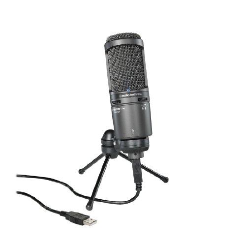 Audio-Technica AT2020USB+ Kondensatormikrofon mit Nierencharakteristik schwarz
