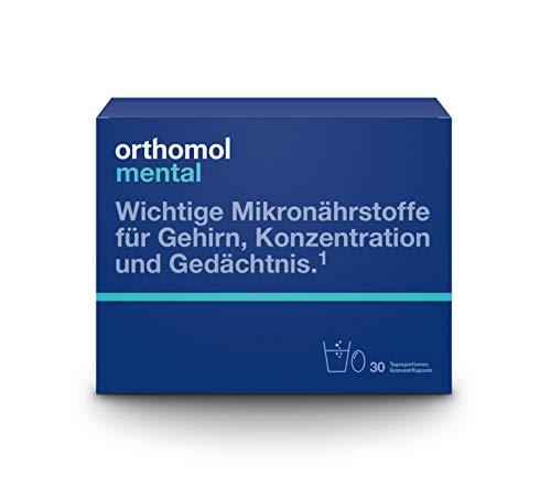 Orthomol mental 30er Granulat & Kapseln - Mikronährstoffe zur Unterstützung von Konzentration,...