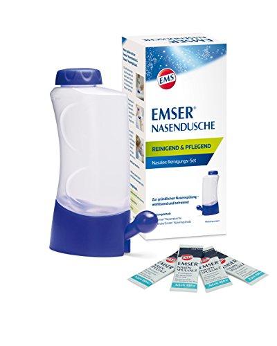 Emser Nasendusche Nasanita inkl. Nasenspülsalz – Nasenspülung bei Erkältung, Allergie und zur...