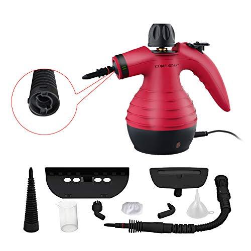Hand Dampfreiniger Handgerät, Tragbare Mehrzweck-Dampfreiniger mit 9 Zubehörteilen zum Entfernen...