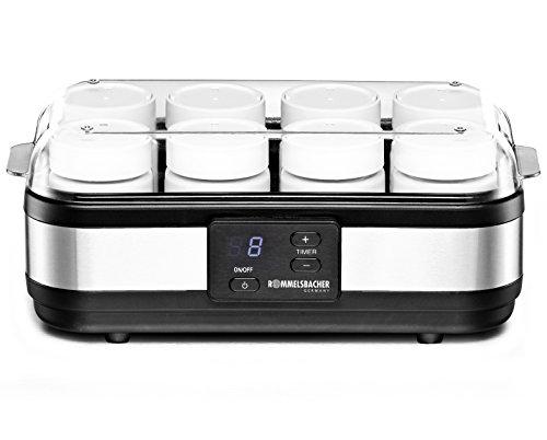 ROMMELSBACHER Joghurtbereiter JG 40 - für bis zu 1200 g Joghurt, LCD Display, 18 Stunden...