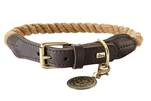 HUNTER List Hundehalsband, Tau, Leder, maritim, strapazierfähig, wetterfest, geschmeidig, 50 (S-M),...