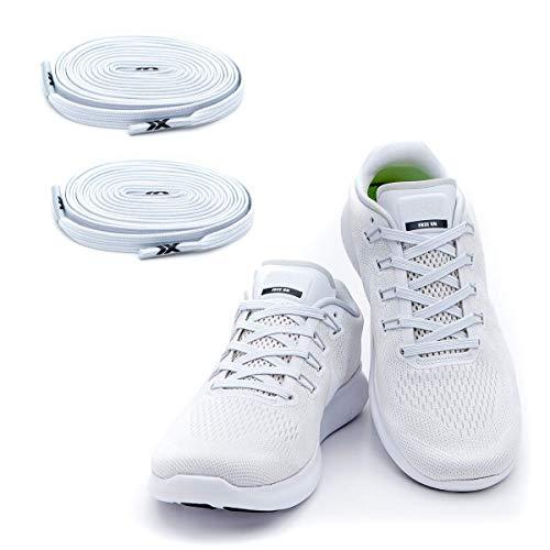MAXX laces Flache elastische Schnürsenkel mit Einstellbarer Spannung Schuhbänder ohne Binden...