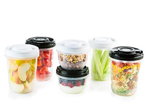 2friends 6 Frischhaltedosen mit Schraubdeckel, z.B. für Meal Prep, stapelbar, gefriergeeignet,...