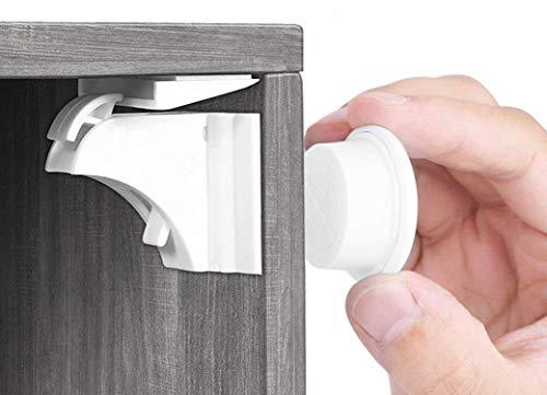 Babysicherheit Magnetisches Schrankschloss 20 Schlösser mit 3 Schlüssel, unsichtbare...