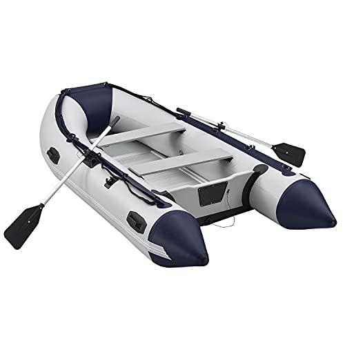 ArtSport Schlauchboot 3,20 m für 4 Personen mit Sitzbank & Aluboden – Paddelboot mit Paddel,...