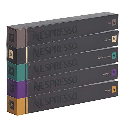 Nespresso, Kaffee-Sortiment mit 50 kompatiblen Originalkapseln: 10x Roma, 10x Ristretto, 10x...