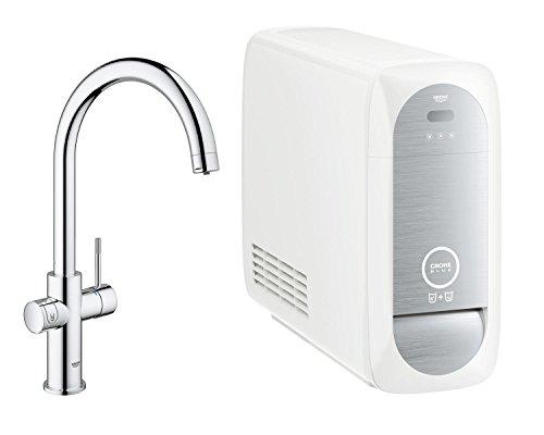 GROHE Blue Home Duo | Küchenarmatur - 2-in-1 TRINKWASSERSYSTEM und Spültischarmatur | gekühlt,...