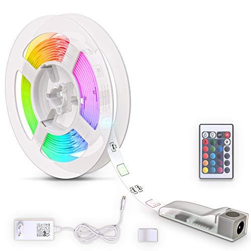 B.K.Licht LED Strip 3m, RGB, Fernbedienung, selbstklebend, Farbwechsel, kürzbar, LED Stripes,...
