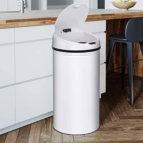 Ribelli Edelstahl Mülleimer - Abfalleimer mit Sensor - automatisches Öffnen und Schließen -...