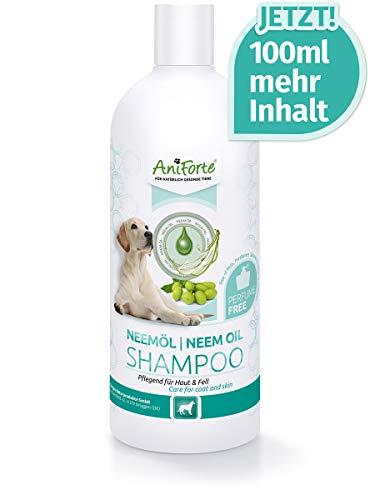 AniForte pflanzliches Neemöl Shampoo für Hunde 500ml - Hundeshampoo parfümfrei, Pflegeprodukt...