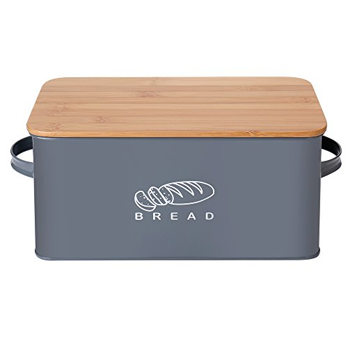 G.a HOMEFAVOR Brotkästen Küchen Brot Box Aufbewahrungscontainer mit Bambus Deckel(Brotbretter), 30...
