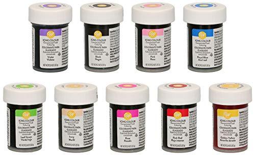 bakeryteam Wilton Lebensmittelfarben 8er Set plus Rose, 1er Pack (1 x 252 g)