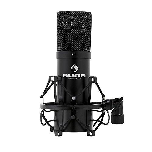 auna MIC-900B, USB Kondensator-Mikrofon, Gaming-Mikrofon, Standmikrofon für Gesangs- und...