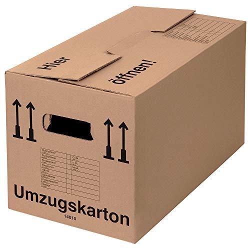 BB-Verpackungen 25 x Umzugskarton PROFI 600 x 328 x 340 mm (stabil 2-wellig, belastbar bis 40 kg,...