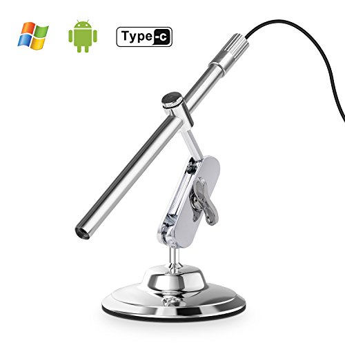 Depstech Inspektionskamera digitales USB Mikroskop mit 10 bis 200-facher Vergrößerung, 8LED 's...