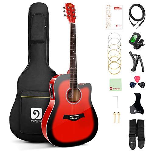 Vangoa Elektro Akustik Gitarre, 41 Zoll Elektroakustische Gitarre 4 Band EQ Volle Größe...