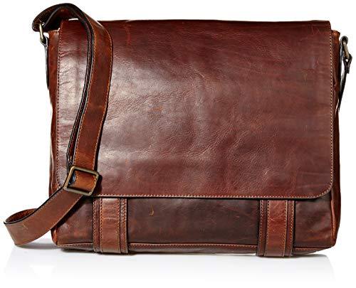 FRYE Herren James Messenger Veg Cut leather Logan Bag, dunkelbraun, Einheitsgröße