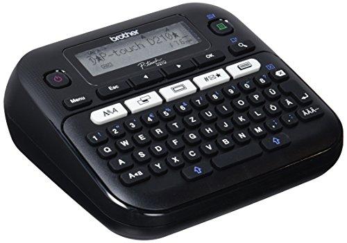 Brother PT-D210 Beschriftungsgerät, QWERTZ Tastaturlayout (für 3,5 bis 12 mm breite...