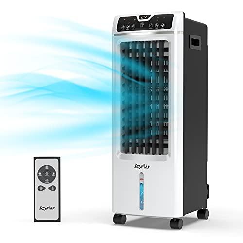 Mobile Klimagerät, Luftkühler mit Luftreinigung, 4 in 1 Ventilator mit Luftbefeuchtung und...