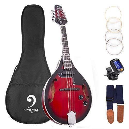 Mandoline Instrument Red Sunburst Mahagoni Akustisches elektrisches Mandoline im A-Stil für...