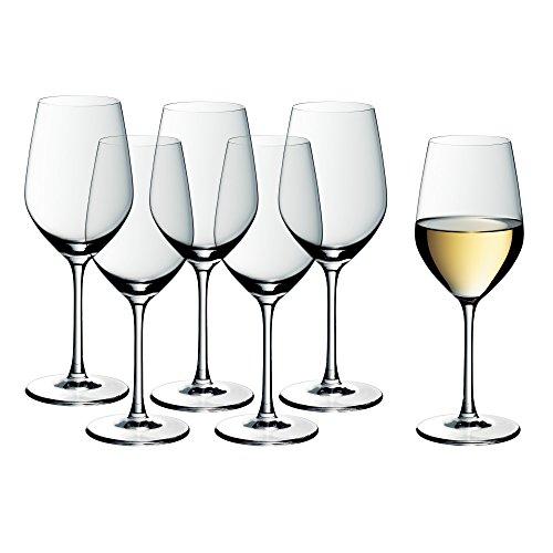 WMF Easy Plus Weingläser Weißwein 6er Set, Weinglas 390 ml, Kristallglas, spülmaschinenfest,...