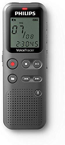 Philips DVT1110 digitales Diktiergerät zur Aufnahme von Notizen, Ideen und Gedanken unterwegs, 4...