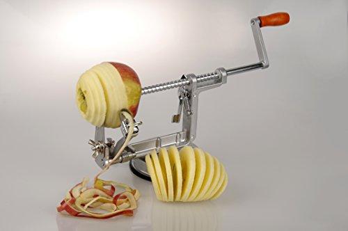 MaxxGoods Apfelschäler - Apfelschneider - Apfelentkerner - 3 in 1 Funktion in Premium Qualität 1...