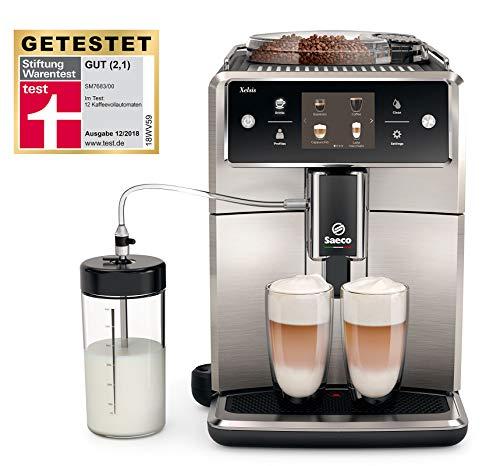 Saeco Xelsis SM7683/00 Kaffeevollautomat, 15 Kaffeespezialitäten (Touchscreen, 6 Benutzerprofile)...