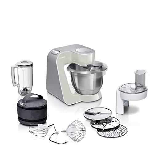 Bosch Küchenmaschine MUM5 CreationLine MUM58L20, Edelstahl-Schüssel 3,9 L, Mixer 1,25 L,...