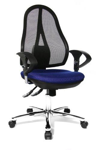 Topstar Open Point SY Deluxe, ergonomischer Syncro-Bandscheiben-Drehstuhl, Bürostuhl,...