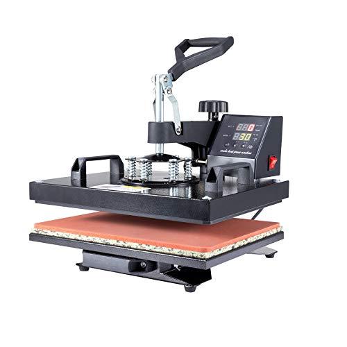 Valens 8 IN 1 Transferpresse 38x30cm Hitzepressemaschine Heißpresse Textilpresse Tassenpresse Heat...