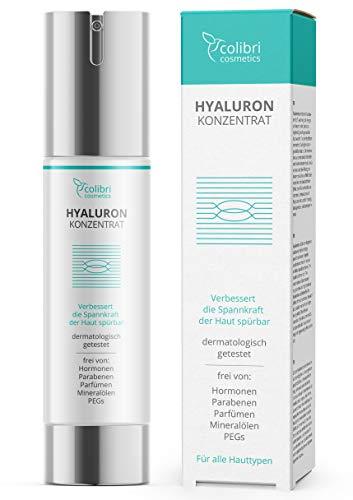 Hyaluronsäure Serum hochdosiert - Testsieger 2021 - Natürliche Hyaluron Anti-Aging Creme für das...